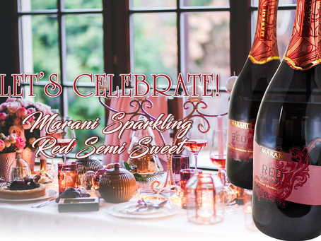 LET'S CELEBRATE! WITH MARANI SPARKLING RED SEMI SWEET