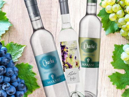 Chacha - an alcoholic drink made from different grape varieties.