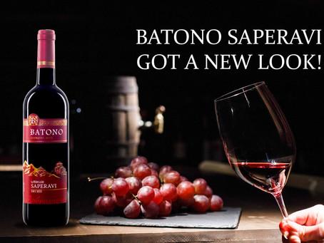BATONO SAPERAVI GOT A NEW LOOK!