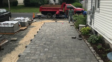 Paver walkway & driveway renovation project in Morris Plains, NJ