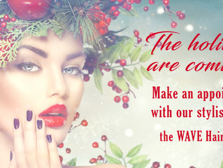 The holidays are coming! Make an appointment with our stylists now!