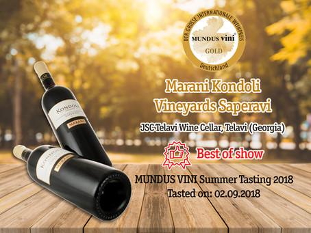 Marani awards at MUNDUS VINI SUMMER TASTING 2018