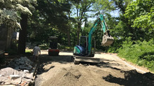 Pea gravel driveway project in Kinnelon NJ