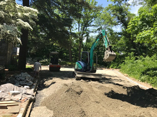 Pea gravel driveway project in Kinnelon NJ