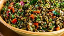 Lentil Salad with Red Wine Vinaigrette