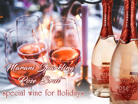 MARANI SPARKLING ROSE BRUT special wine for Holidays