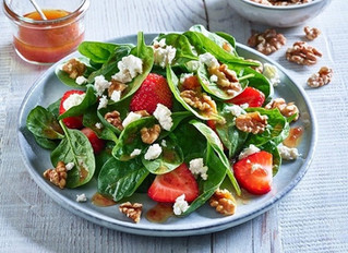 """Strawberry Spinach Salad """"I am forever in bliss"""""""
