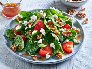 "Strawberry Spinach Salad ""I am forever in bliss"""