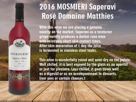 2016 MOSMIERI Saperavi Rosé Domaine Matthies
