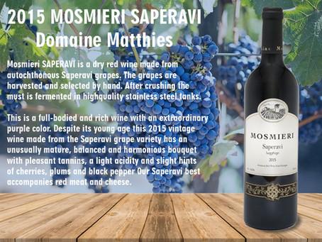 2015 MOSMIERI SAPERAVI Domaine Matthies