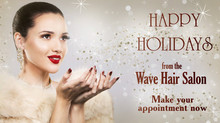 Happy Holidays from the Wave Hair Salon