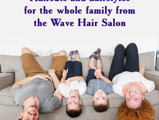 Haircuts and hairstyles for the whole family from the Wave Hair Salon