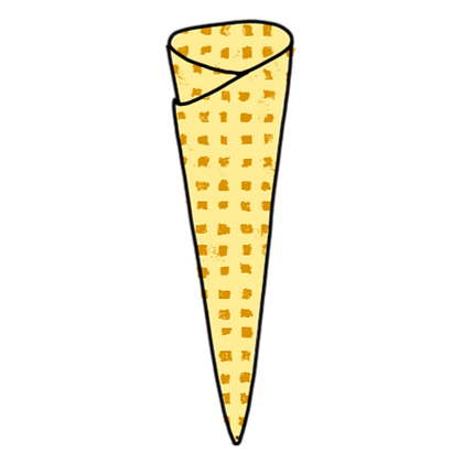 HANDMADE ICE CREAM CONE x  5