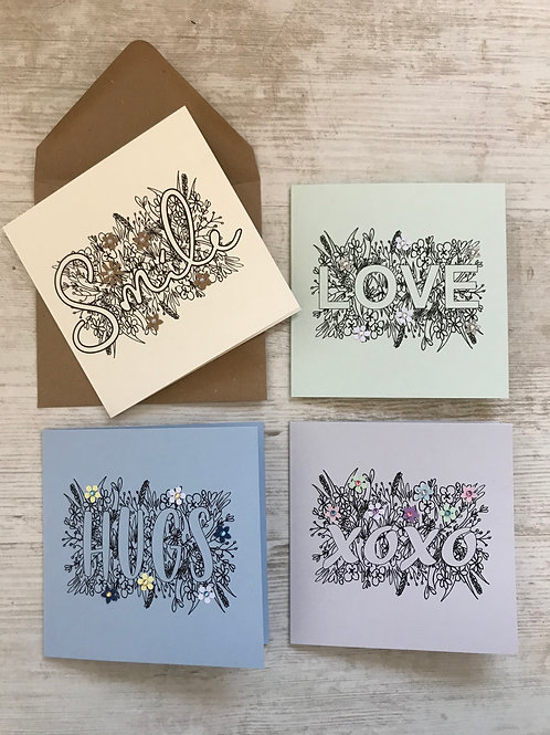 'Just because' Card - Pack of 4