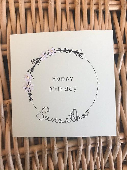 Moongate Personalised Birthday Card