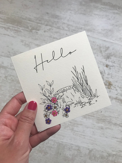 Woodland 'Hello' Card