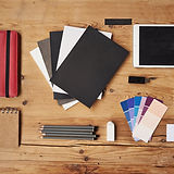 Schreibtisch und stationäre