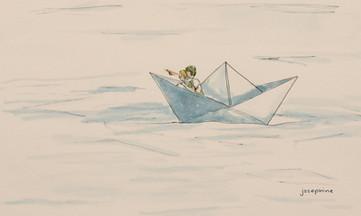 Sailing in a paper boat