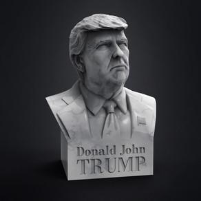 Donald J Trump Büste für 3d Druck jetzt online