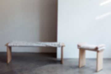 Bound Bench and Beau Stool Ivana Taylor.