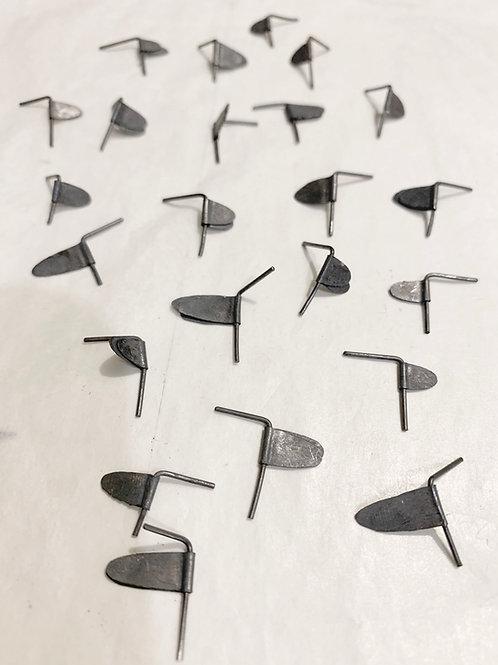 Black Flags : Post Earrings