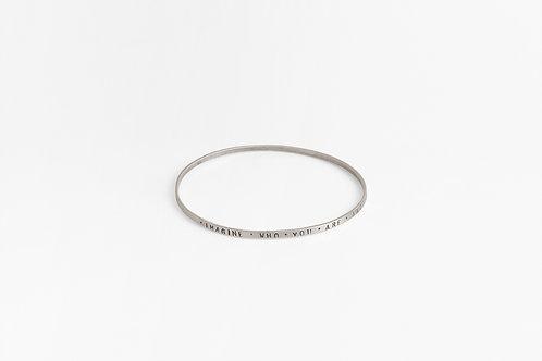 Thin Text Bracelet : Bracelet