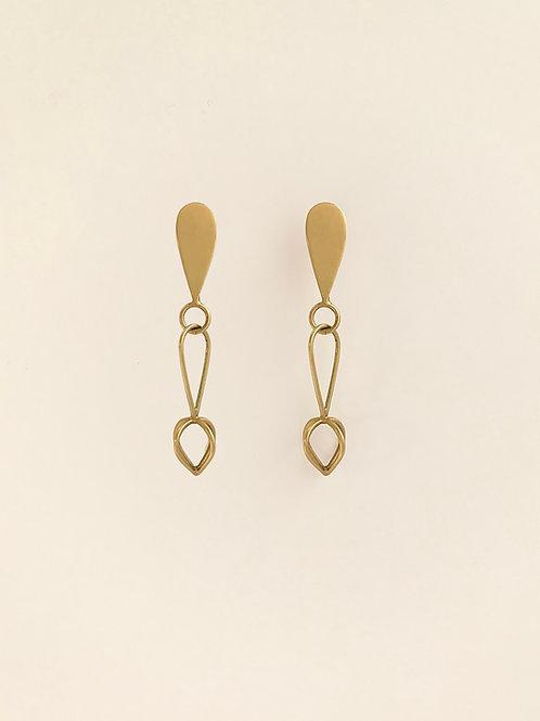 Short Marion : Gold Earrings