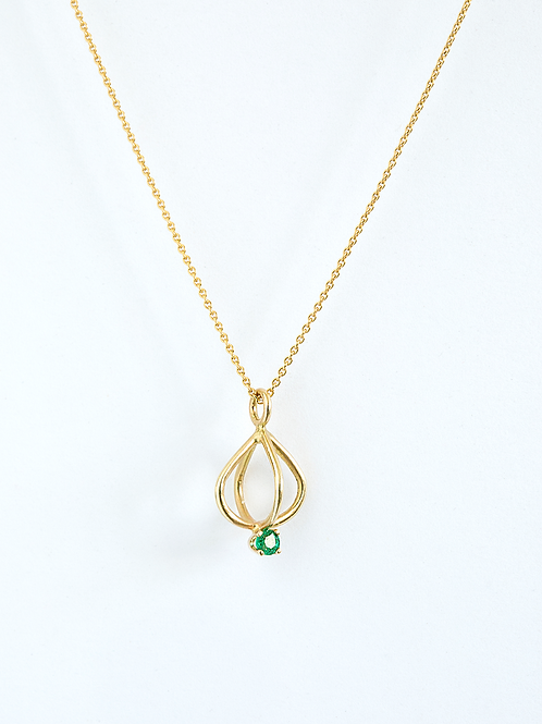 Gold Crown with Emerald