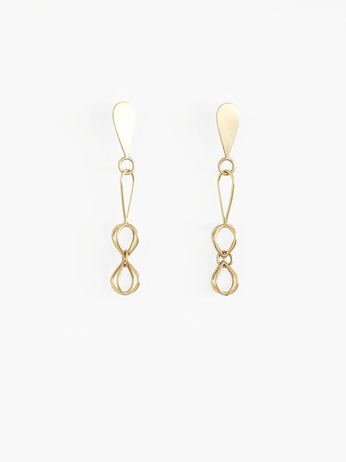 Marion : Long Gold Earrings