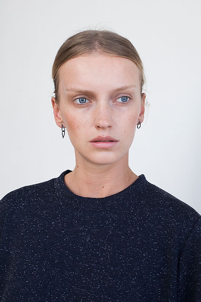 Mix set of black silver earrings