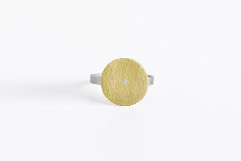 Typewriter : Silver & Brass Ring