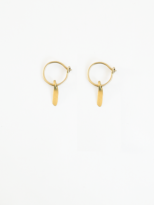 Hoop Plus : Gold Earrings