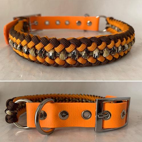 Collier orange et marron