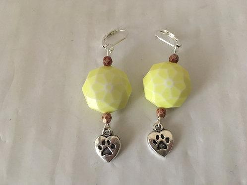 Boucles d'oreilles jaunes