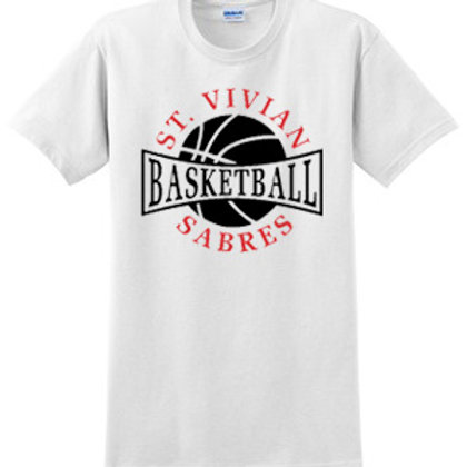 Basketball White Short Sleeve T-Shirt