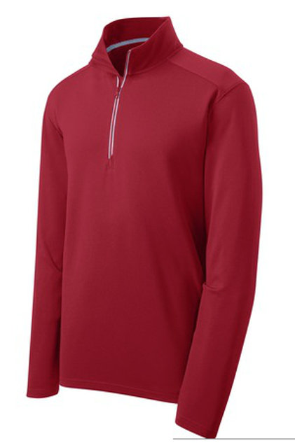 Men's Sport-Wick Textured 1/4-Zip Pullover - Red