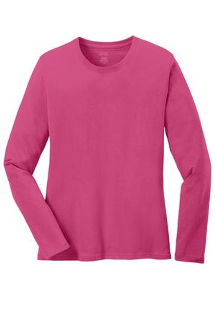 Lineshot Adult Long Sleeve T Shirt Pink
