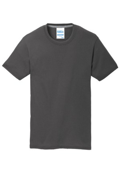 Left Front Chest Imprint Youth Performance Blend Tee - Gray