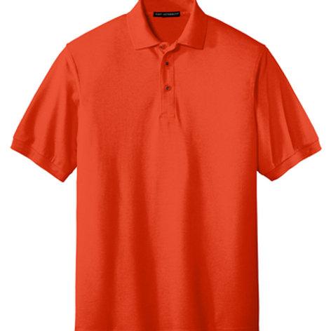 ES Orange Port Authority Men's Silk Touch™ Polo