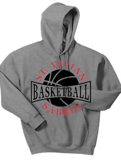 Basketball Sport Gray Hoodie
