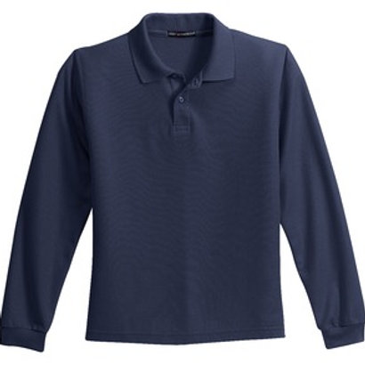 College Hill Youth Long Sleeve Silk Touch™ Polo