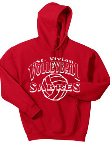 Volleyball Red Hoodie