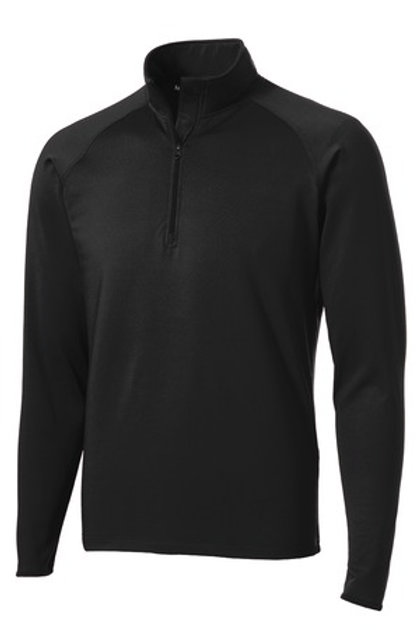 Men's Sport-Wick Stretch 1/2-Zip Pullover - Black