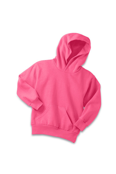 Lineshot Youth Core Fleece Pullover Hooded Sweatshirt-Pink
