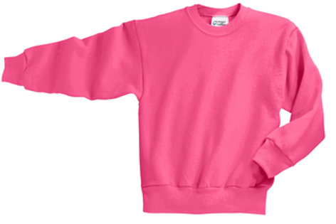 Lineshot Youth Core Fleece Crewneck Sweatshirt-Pink