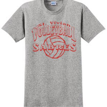 Volleyball Sport Gray Short Sleeve T-Shirt