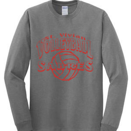 Volleyball Sport Gray Long Sleeve T-Shirt