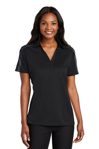 Cincinnati Traditions Ladies Silk Touch™ Performance Colorblock Stripe Polo
