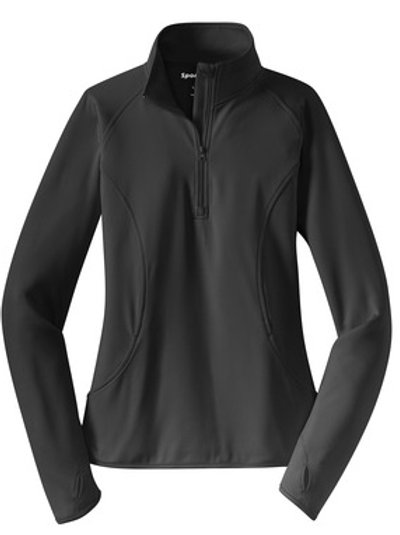 Ladies Sport-Wick Stretch 1/2-Zip Pullover - Gray