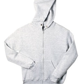 Nishime Youth JERZEES - NuBlend Full-Zip Hooded Sweatshirt-Ash